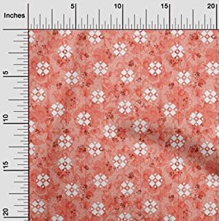 oneOone Viscose Jersey Bittersweet Fabric Geometric Dress Material Fabric Print Fabric By The Yard 60 Inch Wide