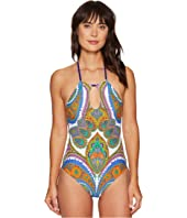 Trina Turk - Pacific Paisley High Neck One-Piece