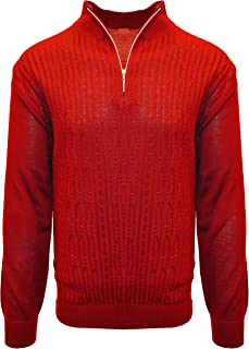 Best mens red cable knit sweater Reviews