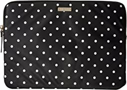 Kate Spade New York - Classic Nylon Mini Pavillion Dot Laptop Zip Sleeve with Back Pocket 13
