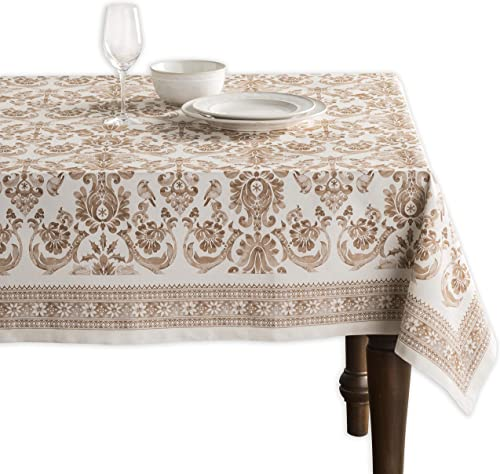 Maison d' Hermine Allure 100% Cotton Tablecloth for Kitchen Dining | Tabletop | Decoration | Parties | Weddings | Tha...
