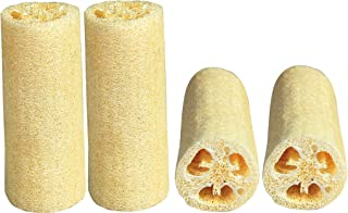LUXEHOME 4-Pack Loofah Sponge Measured in 6 Inch Length Natural Oganic Loofah Perfect for Kitchen Household Use and Body Cleanser Personal Skin Care Use