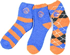 NCAA Boise State Broncos 3 Piece Fuzzy Sock Bundle, Multicolor, One Size Fits Most