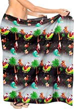 LA LEELA Women Plus Size Beach Swimsuit Sarong Swimwear Cover Up Tie Full Long J