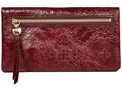 Hobo Lumen (Embossed Deep Plum) Wallet Handbags