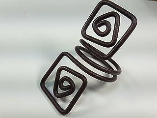 Ronds de serviette,brun antique, l'effet de la rouille.Modele Puck