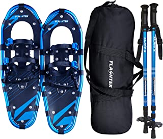 FLASHTEK 21/25/30 اینچ کفش های برفی زنانه و مردانه ، کفش برفی زمینی از جنس آلومینیوم با وزن سبک