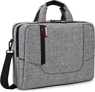 BRINCH 17.3 inch Laptop Computer Case Cover Sleeve Shoulder Strap Bag with Side Pockets Handles and Detachable for Laptop/Notebook/Netbook/Chromebook,Colour Light Grey