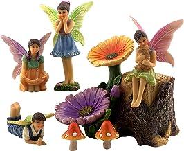 PRETMANNS Fairy Garden Fairies Accessories – 4 Fairies for an Outdoor Fairy Garden - Supplies for Fairy Garden Decorations...