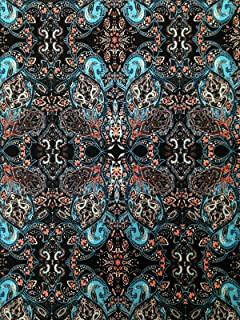 Big Geometric Damask Pattern on Stretch Lightweight ITY Knit Jersey Polyester Spandex Fabric by The Yard