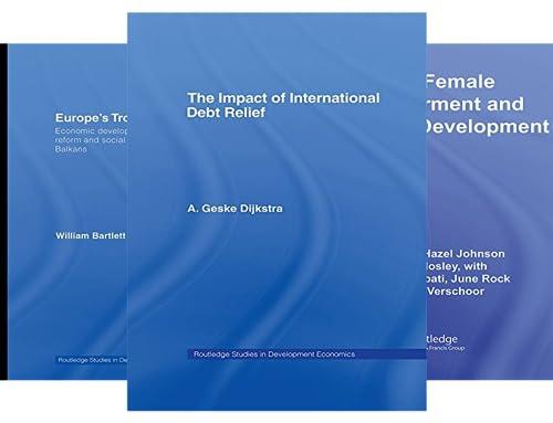 Routledge Studies in Development Economics (51-100) (50 Book Series)