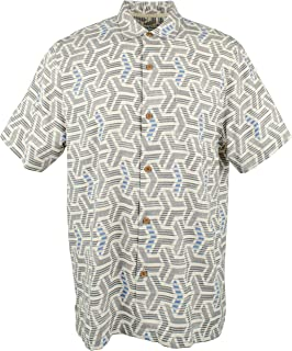 Tommy Bahama Island Zone Wellington Geo Silk Blend Camp Shirt