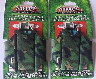 2 Smoo-Z Smoker's Coozie Cigarette Case & Lighter Holder(Camo)