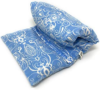 Heat Sack Microwavable Lavender | Hot and Cold Packs for Therapy | Bed Warmer | Lg Baby Blue Paisley