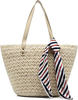 Straw Tote Handbags for Women Top Handle Bags Beach Bags Woven Straw Purses Shoulder Bags for Girls Summer Outfits