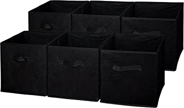 Sodynee FBA_SCB6BL Foldable Cloth Storage Cube Basket Bins Organizer Containers Drawers, 6 Pack, Black