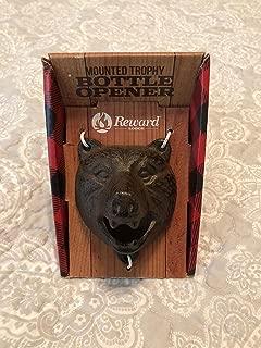Reward Lodge Mounted Trophy Iron Bottle Opener (Bear)