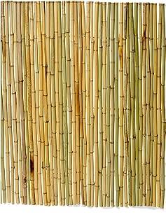 Boedika 90190 Sustainble Rolled Tonkin Bamboo Pole Fence, 4-Feet by 8-Feet by .75-Inch 18-20mm