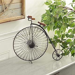 "Deco 79 Industrial Black Metal Big Wheel Bicycle Sculpture, 14.70""H x 16.55""L x 4.65""W, Medium"
