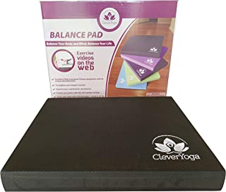 Clever Yoga Balance Pads for Physical Therapy - Large and Extra Large Size - Versatille Foam Pad for Fitness, Rehab, Standing or Kneeling