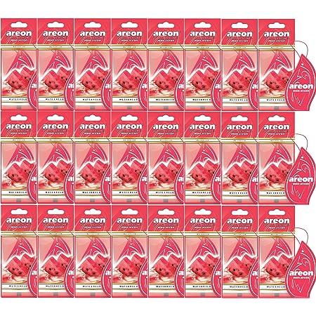 Areon Mon Auto Lufterfrischer Wassermelone Duft Autoduft Rot Anhänger Hängend Aufhängen Spiegel Pappe 2d Wohnung Watermelon Set Pack X 10 Auto