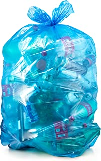 Recycling Trash Bags 55 Gallon, Large Blue Plastic Garbage Bags, 50/Case