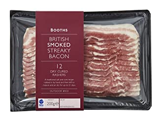Booths British Smoked Streaky Bacon, 200 g