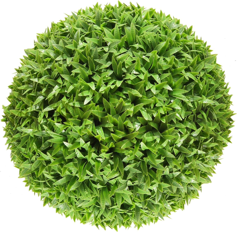 ECOOPTS 8 Inch Artificial 本物 Topiary Ball Plants Boxwood 激安超特価 Lifelike D