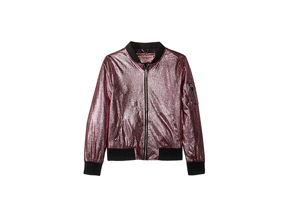 Urban Republic Kids Ziggy Metallic Bomber Jacket (Little Kids/Big Kids) (Pink) Girl