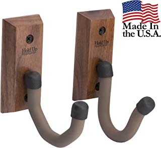 Hold Up Displays - Horizontal Gun Rack and Shotgun Hooks Store Any Rifle Shotgun and Bow - Real Hardwood Harvested in Wisconsin - Made in USA