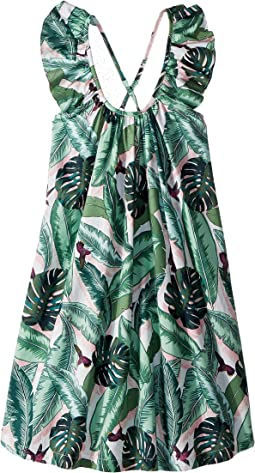 Seafolly Kids - Palm Beach Frill Dress Cover-Up (Toddler/Little Kids)