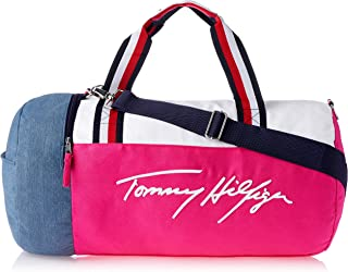 Tommy Hilfiger Unisex Maria Iconic Canvas, Beetroot Purple/Bright White, One Size