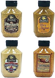 Boar's Head Deli Condiment 4-Pack Bundle Variety Gift Set, Chipotle Gourmaise, Honey Mustard, Deli Mustard, Pub Style Hors...