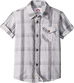 Grey Linen Plaid