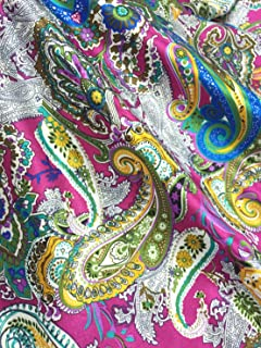Best hot pink paisley fabric Reviews