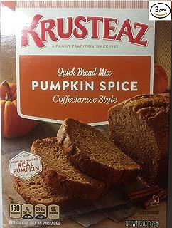 Krusteaz Pumpkin Spice Quick Bread Mix 15 ounce (Pack 0f 3)