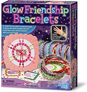 4M 404662 Friendship Bracelet Making Kit (Multi-Colour), Mixed Glow in The Dark, One Size