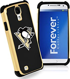 Forever Collectibles Pittsburgh Penguins Rugged Dual Hybrid Samsung Galaxy S4 Case