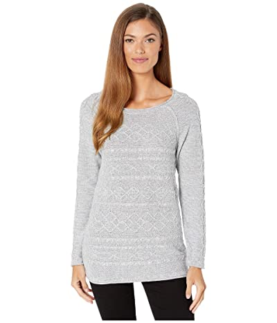 Tribal Long Sleeve Cable Sweater (Grey Mix) Women