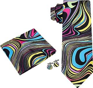 Twenty Dollar Tie Men's Abstract Tie Pocket Square Cuff-links
