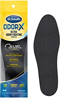 Dr. Scholl's Odor X Odor Fighting Insoles With Activated Charcoal, (1 Pair, Pack of 4, (Packaging may vary ))