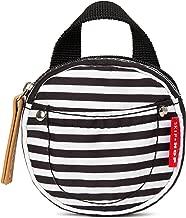 Skip Hop Grab & Go Pacifier Pocket, Black/White Stripe
