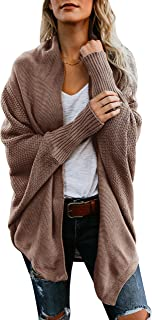 Womens Cardigan Sweaters Oversized Open Front Batwing Chunky Knit Outwear