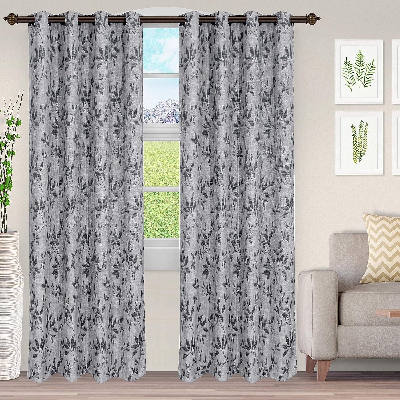 SUPERIOR Ghera Jacquard 現金特価 Curtains with Header x 安い 52