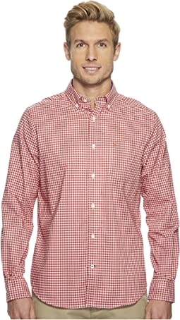 Long Sleeve Wear to Work Gingham Shirt