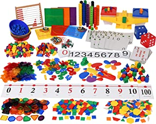Edx Education Classroom Math Kit - For Grades Pre-K and Kindergarten - Teach Early Math - Includes 20 Versatile Teaching Resources and Manipulatives