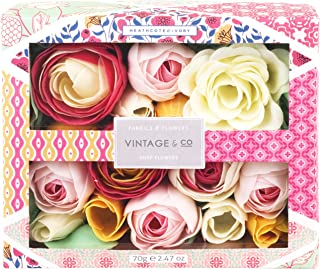 Vintage Fabrics and Flowers Soap Flowers, 178 g