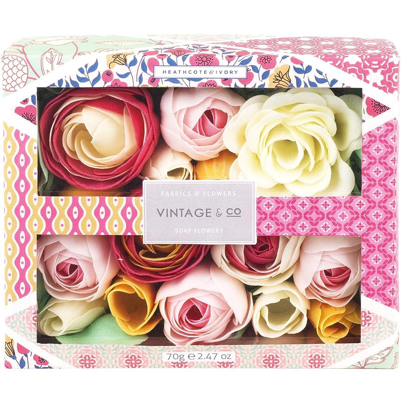 木曜日批判的に識別Vintage&Co生地と花石鹸の花