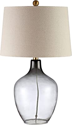 Safavieh Lighting Collection Larzen Ombre Grey 25-inch Bedroom Living Room Home Office Desk Nightstand Table Lamp (LED Bulb Included)