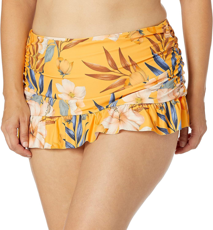 La Blanca Women's Skirted Ruffle Hipster Bikini Swimsuit Bottom